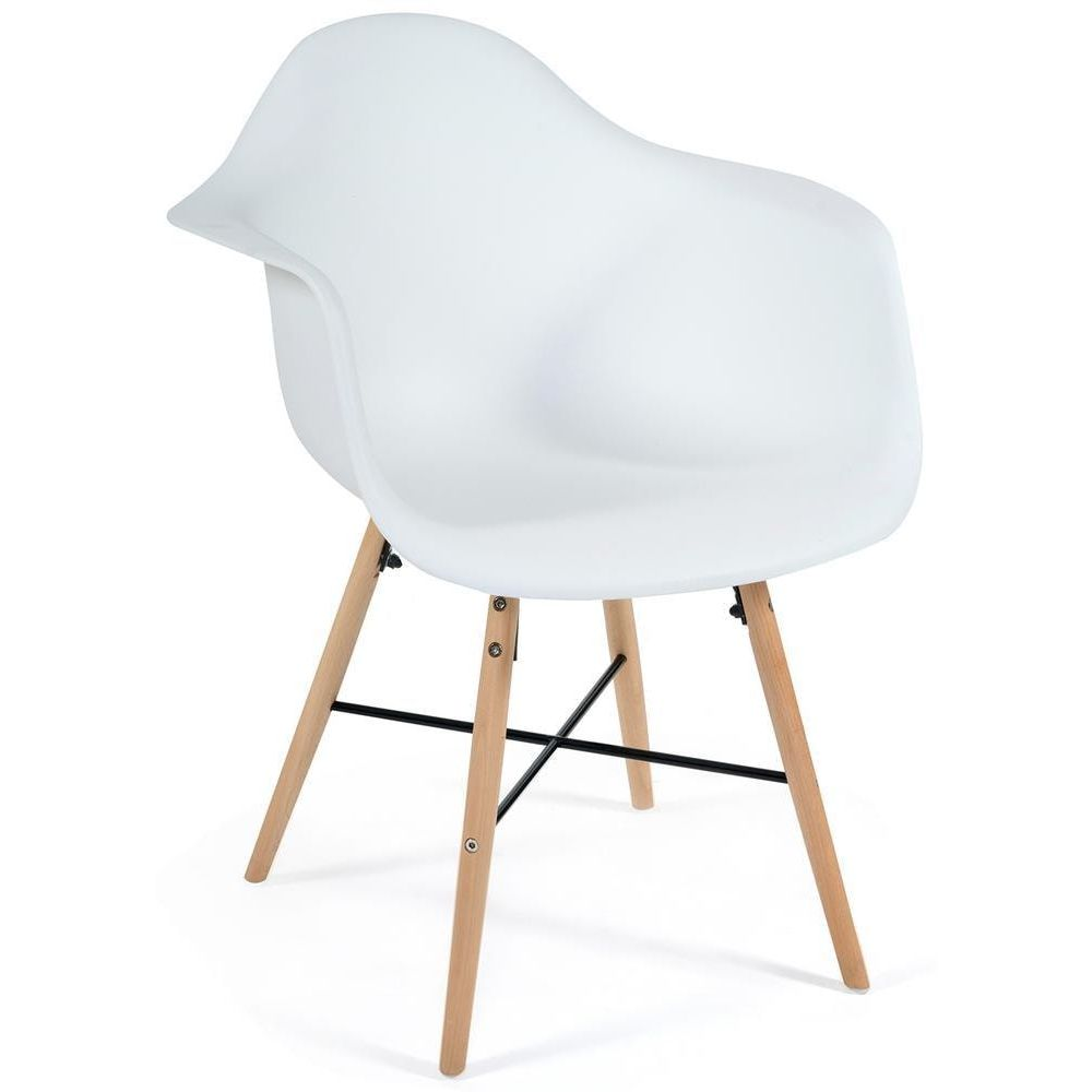 Комплект из четырех кресел Secret De Maison Cindy Eames 919 white with natural legs