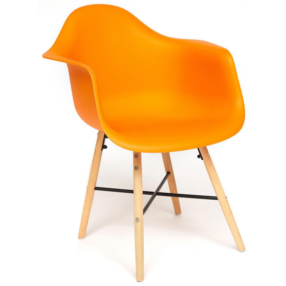 Комплект из четырех кресел Secret De Maison Cindy EAMES 919 orange with natural legs