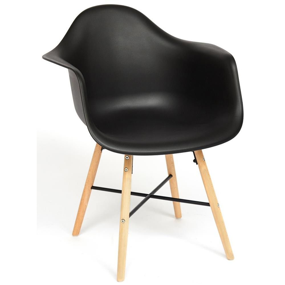 Комплект из четырех кресел Secret De Maison Cindy Eames 919 black with natural legs