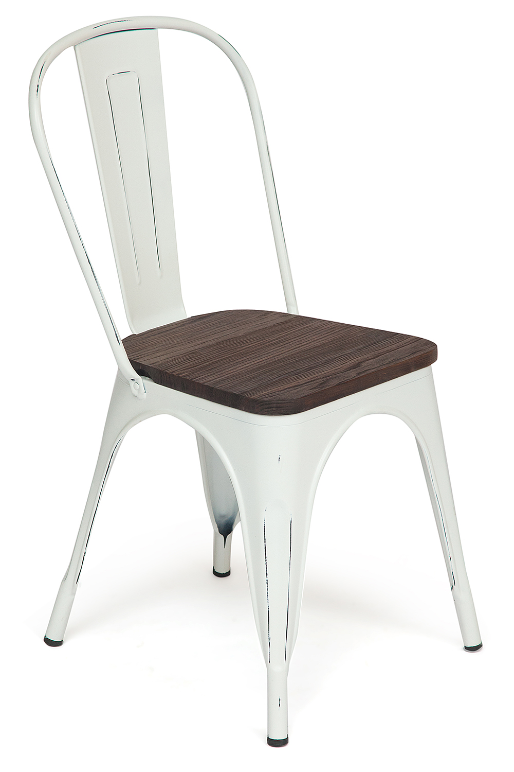 Стул Secret De Maison Tolix-Eames VIP Loft Chair butter white vintage