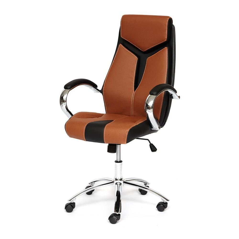 Кресло TetChair GLOSS хром brown black