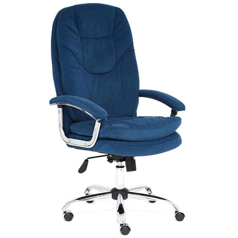 Кресло TetChair Softy Lux blue flock