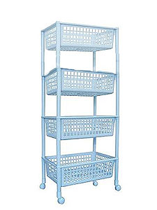 Пластиковая мебель. Полка овощная (3 секции). Этажерки. Каталог товаров